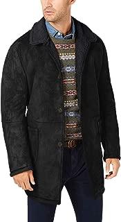 Ralph Lauren Lauren Mens Lefferts Classic-Fit Faux-Shearling Overcoat 40R Black