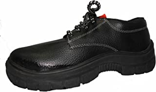 Aktion Safety Aarvee Synthetic Leather Shoes - Size 11, Black