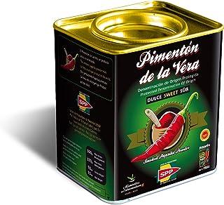 Pimentón de la Vera Ahumado, Dulce en Lata de 370 g, Producto con la Denominación de Origen Protegida D.O.P. Condimento Apto para Celíacos.