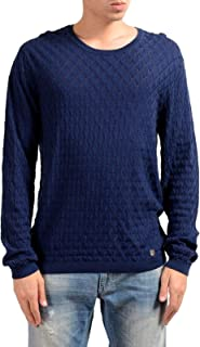 Collection Men's Blue See-Through Crewneck Sweater US 2XL IT 56