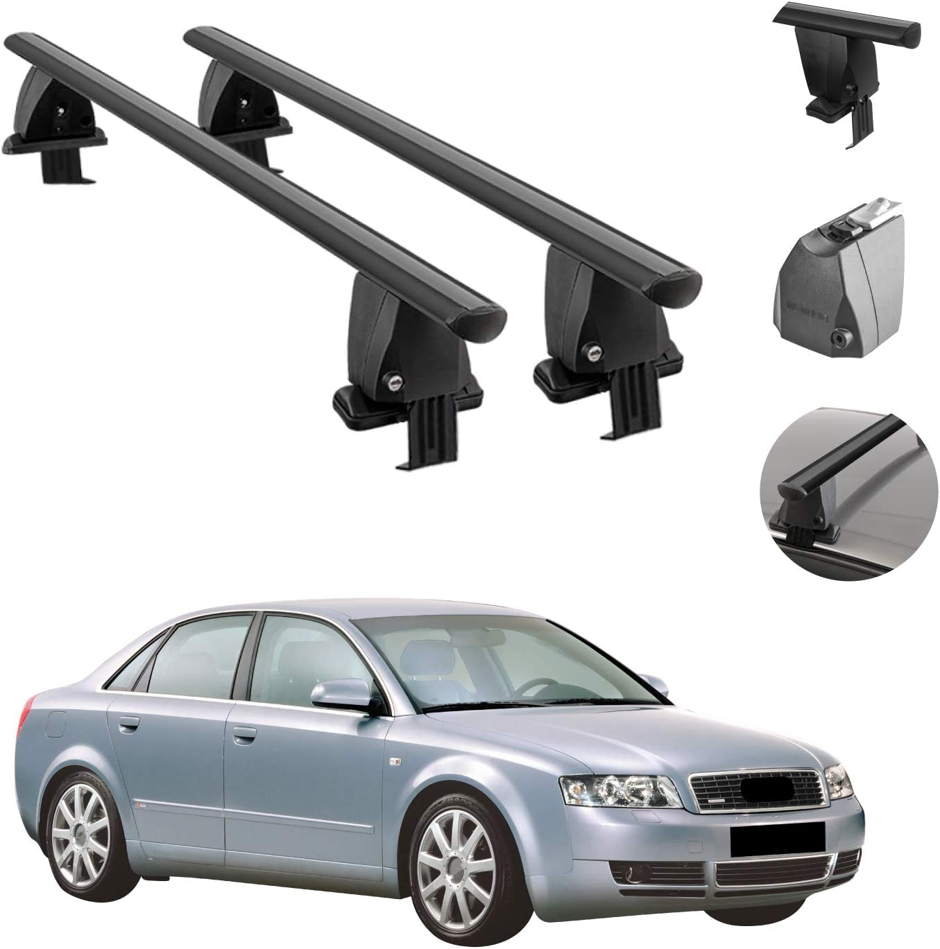 Roof Max 85% OFF Rack Latest item Cross Bars Lockable Sm Compatible Carrier with Luggage
