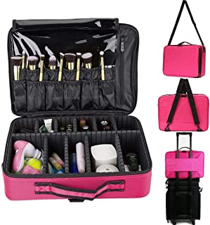 Large Capacity Makeup Brush Bag Case Cosmetic Pouch Storage Handle Organizer Travel,pink