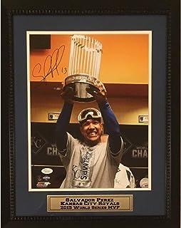 Salvador Perez Kansas City Royals Autographed 2015 World Series MVP Signed 11x14 Framed Baseball Photo JSA COA