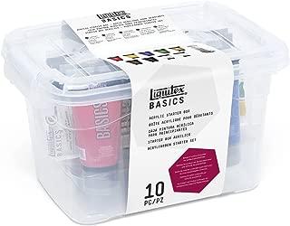 Liquitex BASICS 9 Tube Acrylic Paint Set w/ Brush, 75ml