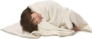 "Baby Deedee Furry Blankie for Boys or Girls, Oversized Luxury Toddler Blanket, Ivory 47"" x 47"""