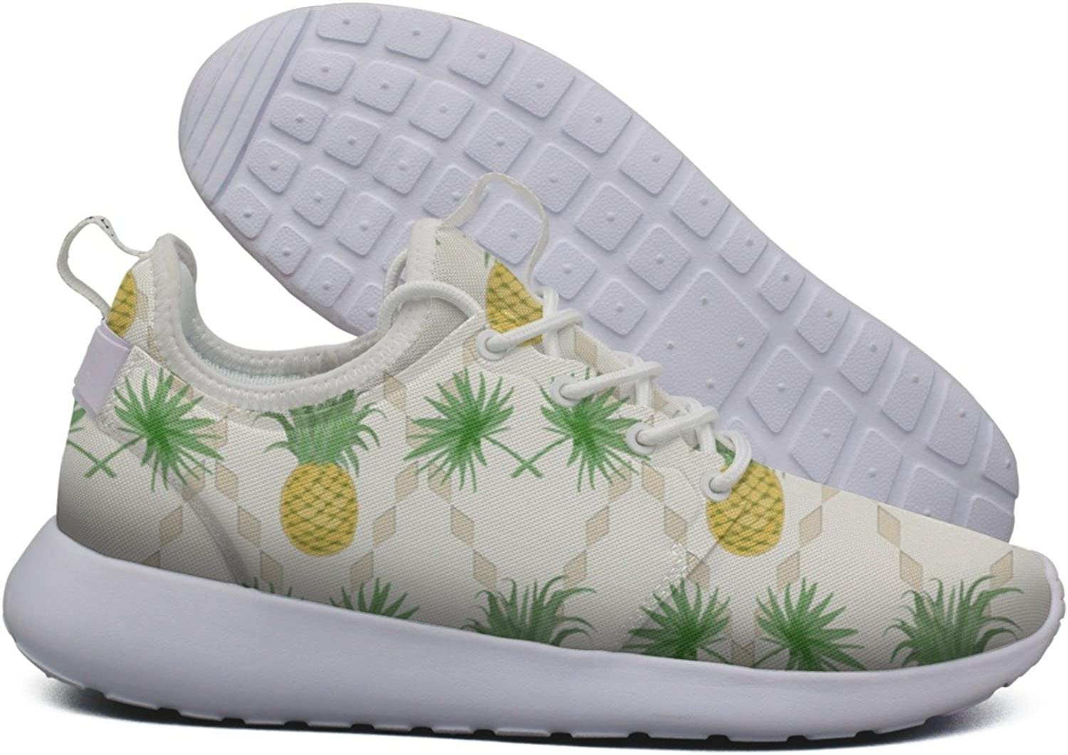 Pineapple and Palm Leaves Women's Lightweight Mesh Tennis Sneakers Designer Basketball shoes