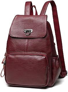 Sanxiner Women's Leather Backpack Casual Daypack Purse Shoulder Bag for Ladies