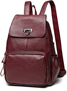 Sanxiner Women's Leather Backpack Casual Daypack Purse Shoulder Bag for Ladies