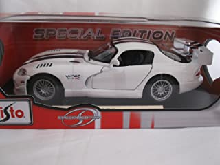 Maisto Dodge Viper GT2 White & Black Special Edition Car 1:18