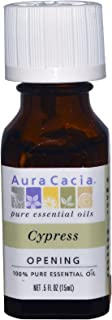 Aura Cacia 100% Pure Essential Oil Cypress -- 0.5 fl oz - 2pc