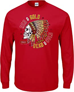 Smack Apparel Kansas City Football Fans. Red and Gold Till I'm Dead and Cold T-Shirt (Sm-5X)