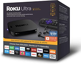 Roku 4661RW Ultra Streaming Player, 2018 with JBL Headphones