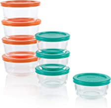 Pyrex 1136618 Simply Store Meal Prep Glass Food Storage Containers (16-Piece Set, BPA Free Lids, Oven Safe)