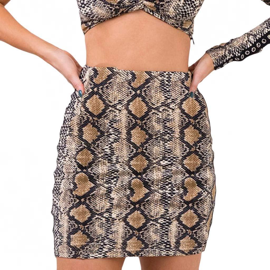 FONMA Fashion Women Casual Summer Ladies High Fashion Animal Print Short Skirt