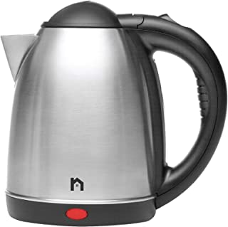 New House Kitchen Stainless Steel Cordless Electric Kettle with Rapid Boil Function, Boil Dry Protection, Fast Heating Hot Water Boiler, BPA Free, 1.7 Liter/1.8 Quart