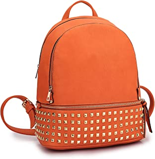 Dasein Women Large Studded Backpack Purse Casual Travel School Daypack