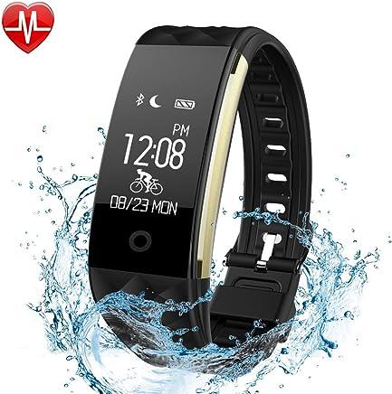 Fitness izleyici, Lattie Smart bileklik kalp atış hızı monitörü Bluetooth kablosuz adım sayacı uyku monitör aktivite sağlık Tracker Pedometre bileklik iOS ve Android akıllı telefon için