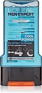 L'Oréal Män Expert Cool Power duschgel, kylande mentoleffekt regenererar huden (ansikte, kropp och hår) försiktigt utan at...