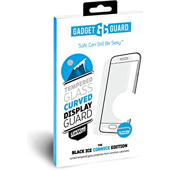 GGBIPCC208SS04A Gadget Guard Black Ice Plus Cornice Curved Edition Tempered Glass Screen Guard for Samsung Galaxy S9