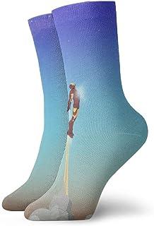 LREFON, Calcetines de compresión Iron-Man Movie Socks Crew Funny Casual Unisex Print Tobillo Calcetín Deportivo