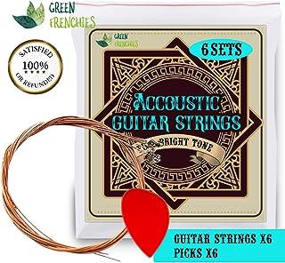 G.F. Bronze acoustic guitar strings, Medium Light 0.12-0.53, 1 set of 6