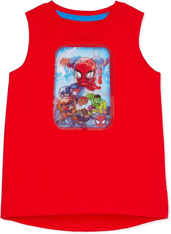H.I.S. International Toddler Boys Super Hero Adventures Muscle Tank- 3D Spiderman