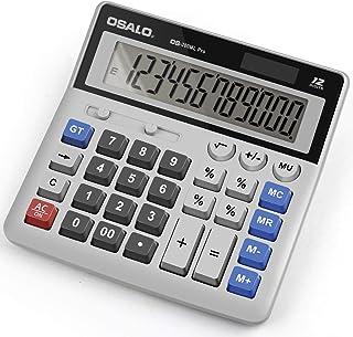 Calculator,Standard Function Desktop Calculator,Basic Financial Calculator Solar Powered Accounting Calculator 12 Digit LC...