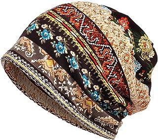 Apofly Dégoulinent Bonnet Doux Coton Stretch extérieur Pull Cap Foulard pour Femmes Hommes Café