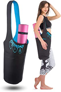 Zenifit Yoga Mat Bag - Long Tote with Pockets - Holds More Yoga Accessories. Cute Yoga Mat Holder with Bonus Yoga Mat Strap Elastics. Stylish and Practical Yoga Mat Bags and Carriers for Women