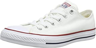 Converse, Chuck Taylor All Star Low Top Unisex Sneakers, Optical White, 4.5 US Men / 6.5 US Women