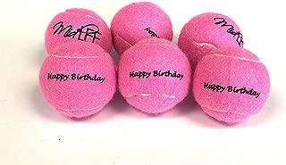 Midlee Happy Birthday Dog Tennis Balls