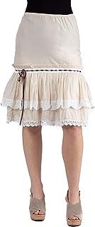 24Seven Comfort Apparel Falda de algodón con Volantes, cómoda, para Mujer (Tallas S a L)