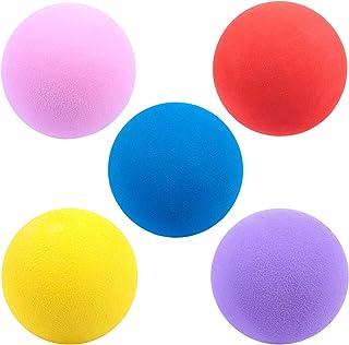 IMIKEYA 5Pcs Practice Golf Balls Foam Soft Elastic Golf Balls Indoor Putting Outdoor Golf Training Aid Balls 60mm