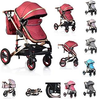 Moni Barnvagn Gala bärväska sportsäte ombyggbar skötväska säte vändbar, färg: röd