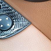 Kohlefaser Abdeckleiste 2 Pcs Drei Farben Carbon Faser Auto Links Fahren Hebeplatte Dekor Aufkleber For Bmw E92 2005 2012 Durchmesser 40 4cm Carbonfaser Autodekoration Teile Auto
