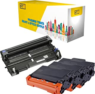 New York Toner New Compatible 4 Pack High Yield Toner & Drum for Brother DR520 TN580 - MFC Multifunction Printers:MFC-8460N | MFC-8470DN | MFC-8660DN | MFC-8670DN | MFC-8860DN .-Black