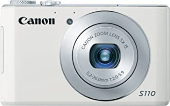 Canon PowerShot S110 12.1 MP Digital Camera with 3-Inch LCD (White) (Discontinued by Manufacturer)