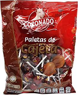 Coronado Cajeta Candy. Mexican Goat Milk Caramel Lollipops. Bag of 40 Suckers. Paletas