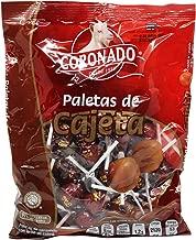 Coronado Cajeta Candy. Mexican Goat Milk Caramel Lollipops. Bag of 40 Suckers. Paletas de Cajeta, Caramelo con Leche de Cabra.