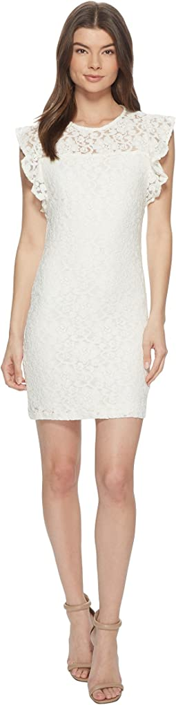 Monae Stretch Floral Lace Dress