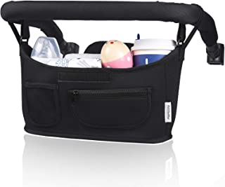 Momcozy Universal Stroller Organizer with Insulated Cup Holder, Fits for Stroller Like Uppababy, Baby Jogger, Britax, Buga...