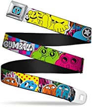 Buckle-Down Seatbelt Belt - GUMBALL & DARWIN Expressions Collage Multi Color - 1.5