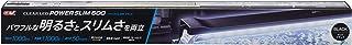 ジェックス クリアLED POWER SLIM 600 ブラック 観賞魚用 60cm水槽用 奥行スリム5cm