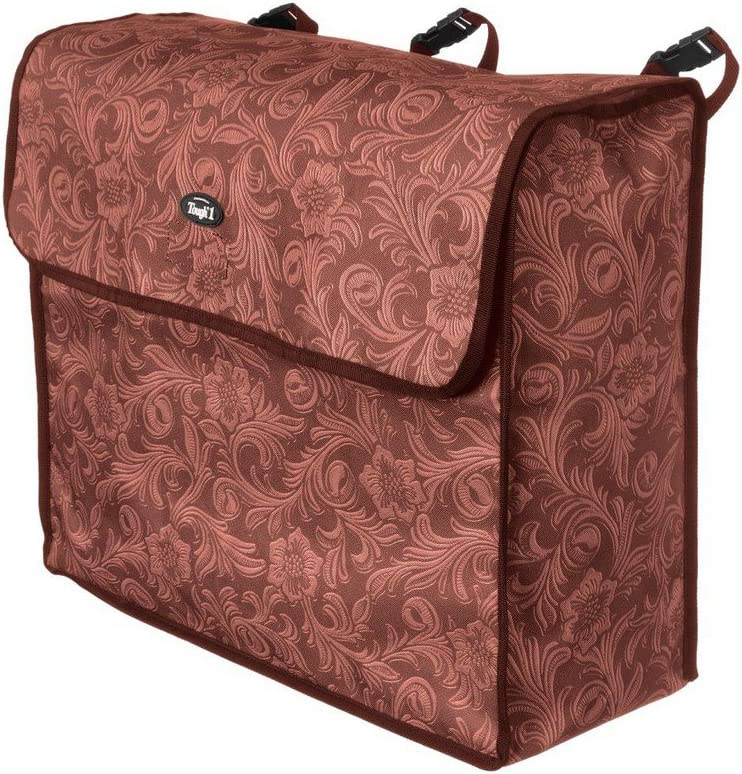 Tough-1 Blanket Storage Bag Brown Tooled Leather : Pet Supplies