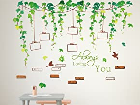 Amazon Brand - Solimo Wall Sticker for Living Room (Vine photo gallery, ideal size on wall ,  120 cm X 88 cm),Multicolour