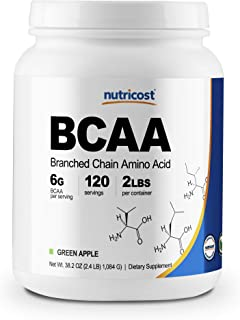 Sponsored Ad - Nutricost BCAA Powder 2:1:1, 120 Servings (Green Apple)