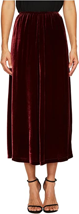 McQ - Velvet Fluid Gather Skirt