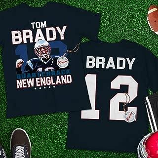 Brady No.12 New England Football Quarterback Tom Fan Jersey Shirt Customized Handmade Hoodie/Sweater/Long Sleeve/Tank Top/Premium T-shirt