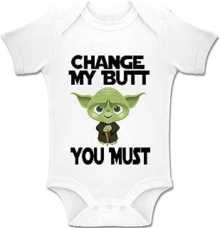 "Acen Merchandise Acen Baby ""Star Wars Inspired Yoda - Change My Butt, You Must"" - Baby Bodys/Strampler 100% Baumwolle 3-6 Monate"
