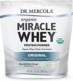 Dr. Mercola, Organic Miracle Whey Protein Power, 13.5 oz (382.5 g), Non GMO, Soy Free, Gluten Free, Non GMO, Soy-Free, Glu...